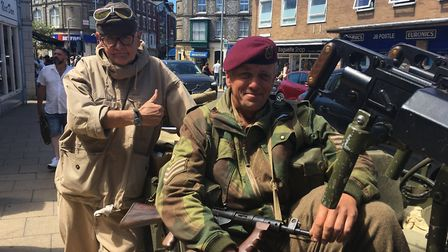 Members of the North Norfolk Military Vehicles Group at Armed Forces Day in Cromer last year. The gr