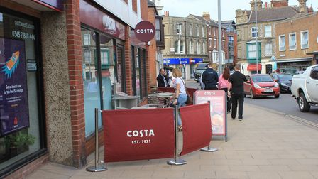 Costa Coffee, in Cromer, which sparked a petition before it opened last August.Picture: KAREN BETHEL