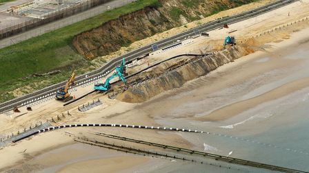 Work starts at Bacton. Date: 2 June 2019. Picture: Mike Page