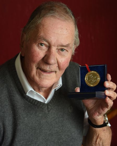 Derek Harrison of North Walsham, who has received the Diabetes UK Macleod gold medal for living with