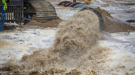 A £19m sandscaping project is underway at Bacton and Walcott on the north Norfolk coast. Picture: C