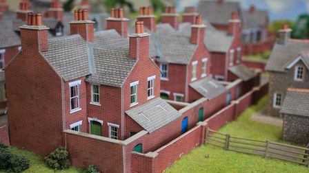 Some of the cottages featured in the model village on sale at Norfolk estate agents Arnolds Keys' Sh