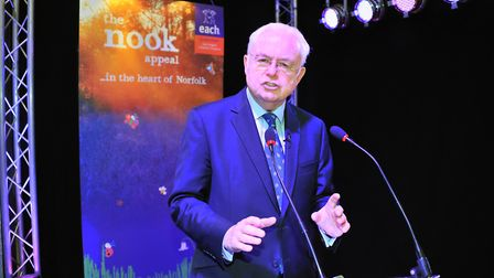 Sir Martyn Lewis hosted a lecture as part of the 2019 Holt Festival. Picture: Simon Finlay