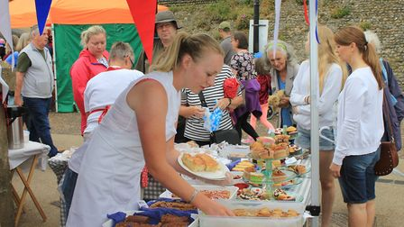 Cromer Ladies Lifeboat Guild members did a roaring trade at their lifeboat day cake stall.Photo: KAR