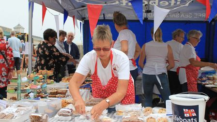 The Ladies Lifeboat Guild cake stall.Photo: KAREN BETHELL