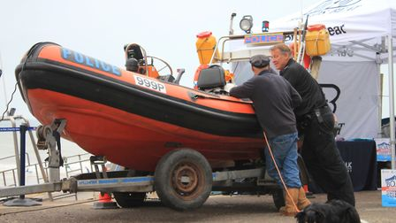 The Wells-Next-the-Sea-based police patrol boat monitoring marine crime along the coast, which was b