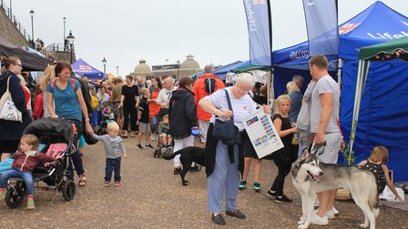Crowds on the promenade at Cromer Lifeboat Day.Photo: KAREN BETHELL