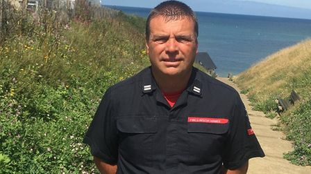 Crew manager Russell Cox was first from fire service on scene at Sheringham. Picture: supplied by Ru