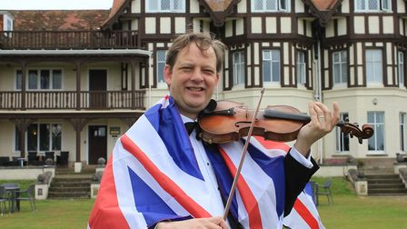 Vionlinist Keith Hobday, who is hosting a Last Night of The Proms concert in tribute to Sir Edgar Sp