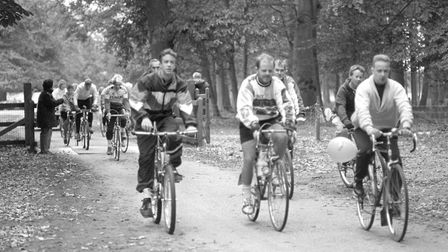 Holkham Hall Big C cycle ride appeal pic taken 7th oct 1990 d12236-13 pic to be used in lets talk o