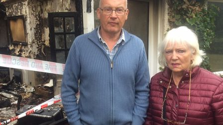 Mark and Linda Stuckey at their home in Roughton Road, Cromer. Pictures: David Bale