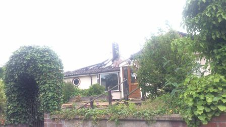 The fire-damaged bungalow in Roughton Road, Cromer. Pictures: David Bale