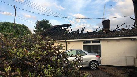 The bungalow after the fire. Picture: Archant