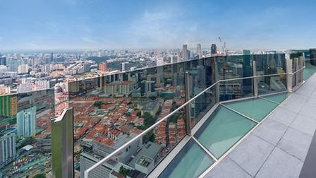 The view from Sir James Dyson's new Singapore residence, the Super Penthouse at the Wallich Residenc