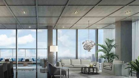 The 'family lounge' of Sir James Dyson's new Singapore residence, the Super Penthouse at the Wallich