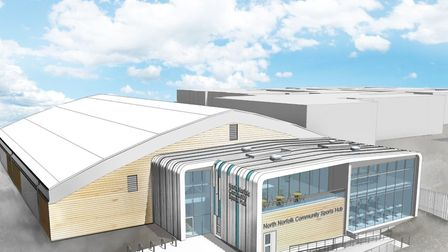 The previously planned £3.3m community sports hub in Cromer. Image: NORTH NORFOLK DISTRICT COUNCIL