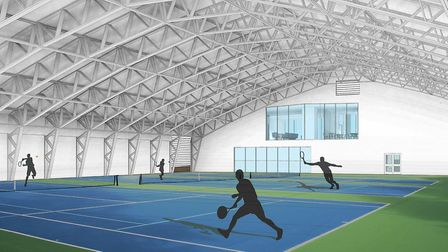 An artist's impression inside the proposed sports hub in Cromer. Picture: NNDC