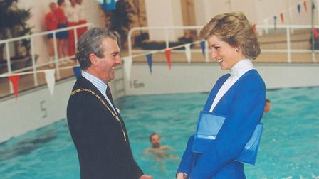 Princess Diana officially opened Splash in 1988. Picture: Archant