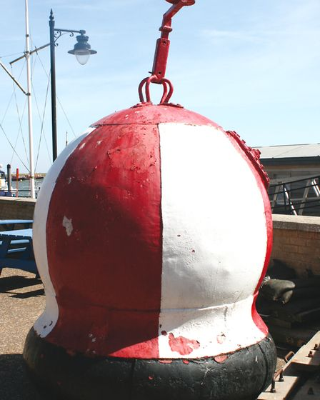 Mines were ever present along the wartime shore. They feature in the new book, Secret Cromer and She