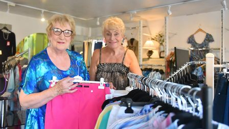 Business partners Annette Collins and Jenni Devereux at Annette Collins Ladies Fashions in Wroxham.