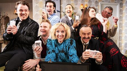 The cast of Funny Money at Sheringham Little Theatre. Picture: Andi Sapey
