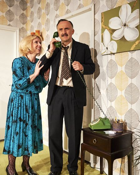 A scene from Funny Money at Sheringham Little Theatre. Picture: Andi Sapey