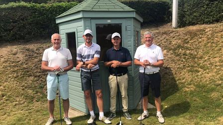 One of the teams at an annual charity golf day. Pictures: Kevin Abbs