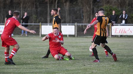 Action from Sheringham's game against Great Yarmouth Town Picture: Robert Walkley