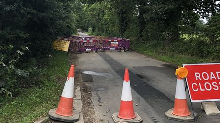 Part of Cromer Road between Sustead and Metton has been closed so Anglia Water can carry out repairs