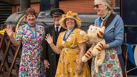 Children's author and North Norfolk Railway volunteer Christine Parmenter (left), who is hosting a f