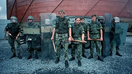 British Army snatch squad used in riots to grab suspects for interrogation during The Troubles, Nort