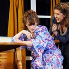From left, Lesley Ann Acheson as Eva and Lauren Verrier as Jane in Absurd Person Singular at Shering