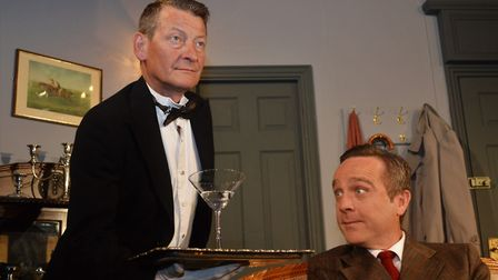 From left, David Tarkenter and Steve Banks as Jeeves and Bertie Wooster in Sheringham Little Theatre
