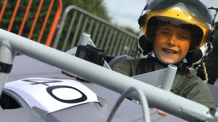 Tom Taylor raced his Top Gun car soapbox in the annual Cromer Soapbox Derby, competitors were watche