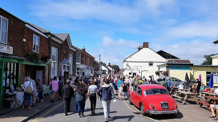 Stalham's vintage market in 2018. Pictures: Di Cornell