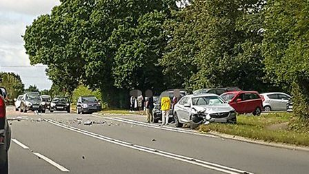 Accident on the A149. Picture: Mel Symonds