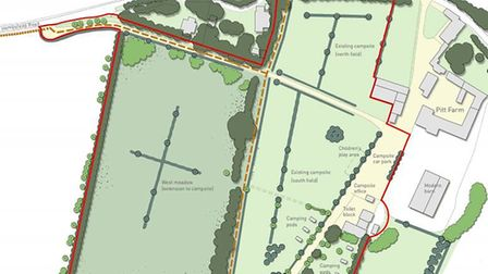 An application to expand Baconsthorpe Meadows Campsite in Baconsthorpe, Norfolk, was approved by Nor