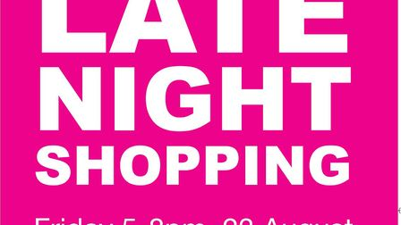 Late night shopping experience poster in Sheringham. Picture: supplied by Red Lobster Gallery