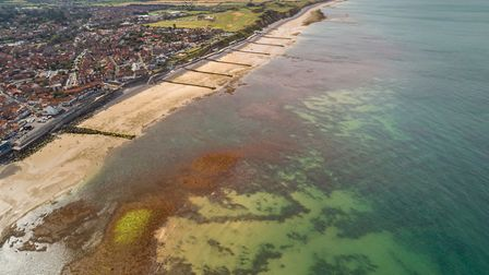 A view from above looking into the waters over the Sheringham Snorkel Trail. Picture: christaylorpho