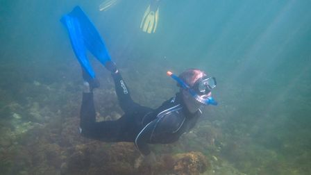 Snorkelling along the Sheringham Snorkel Trail. Picture: christaylorphoto.co.uk