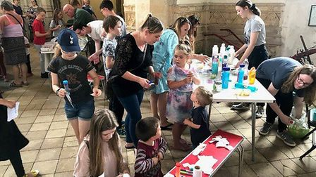 Cawston's parish church, St Agnes, hosted a Potterfest celebration of Harry Potter as part of the Tw
