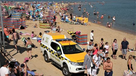 Crowded beach for Sea Palling's lifeboat day. Pictures: Maurice Gray