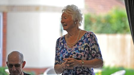 Lady Mary Peters speaking with residents at the opening of the new Louis Arthur Court Retirement Liv