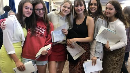 Pupils at Aylsham High School recieving their GCSE results. Picture: Archant
