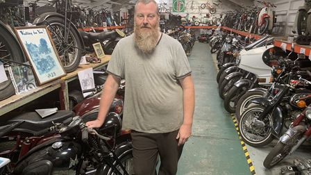 Steve Harmer at the Norfolk Motorcycle Museum in North Walsham. Picture: Stuart Anderson