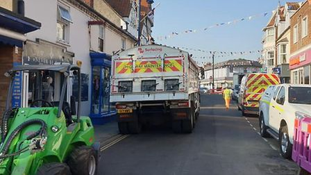 Sheringham sinkhole project is nearly over. Picture: Sheringham Town Council
