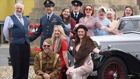 Locals in 1940's dress prepare for the Holt 1940's weekend in September. Picture: DENISE BRADLEY