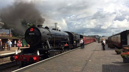 The Royal Norfolk Regiment locomotive, which will be used for the fundraising event. Picture: David