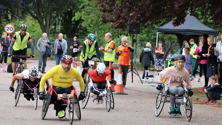The flat and traffic-free site is ideal for the club's junior runners and wheelchair racers. Photo: