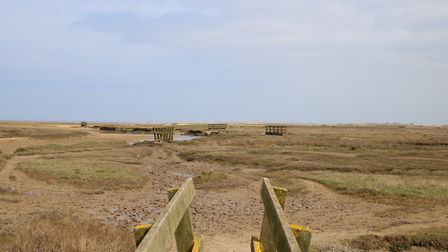 Stiffkey marshes and beach on a sunny April morning. Picture: Martin Sizeland